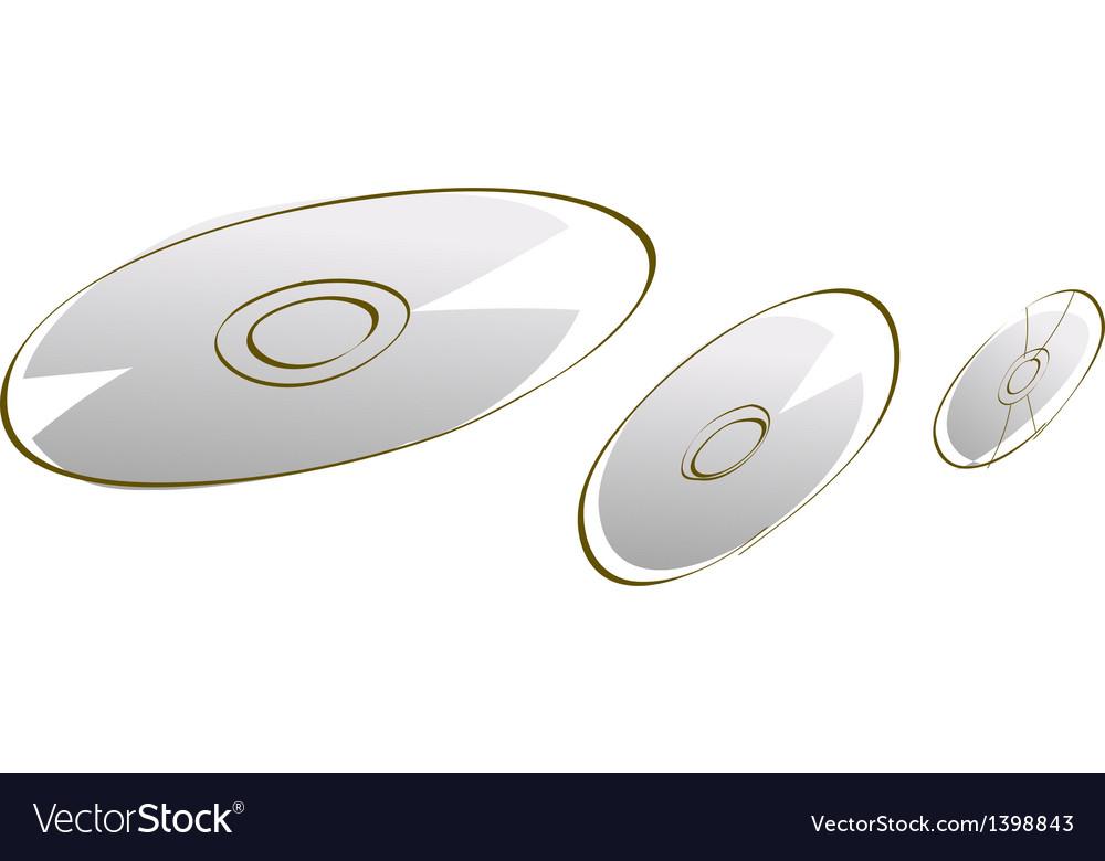 Icon cd vector