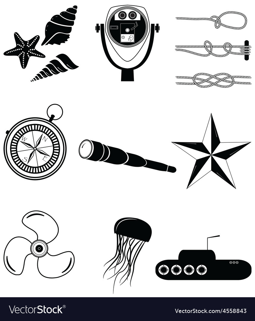 Nautical elements 2 vector