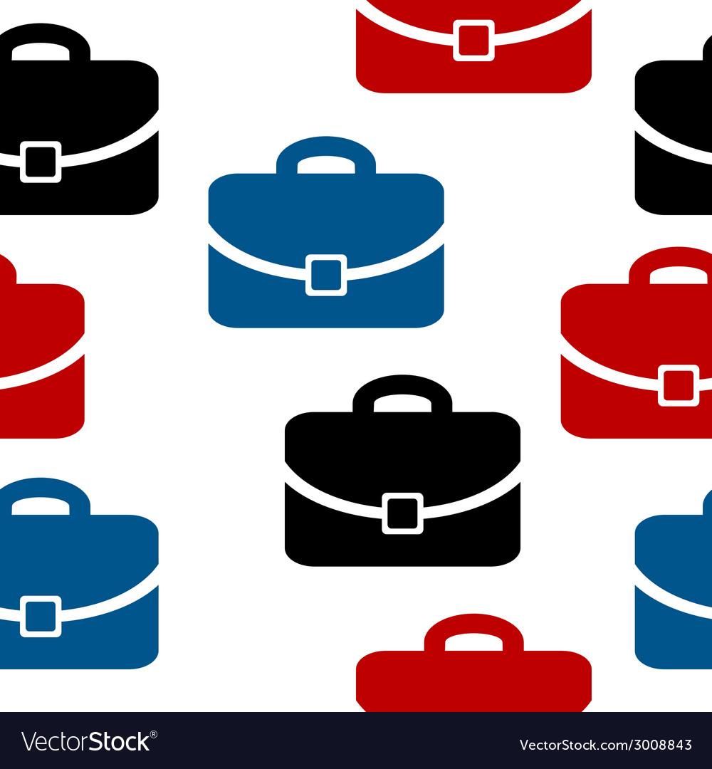 Portfolio icon seamless pattern vector | Price: 1 Credit (USD $1)