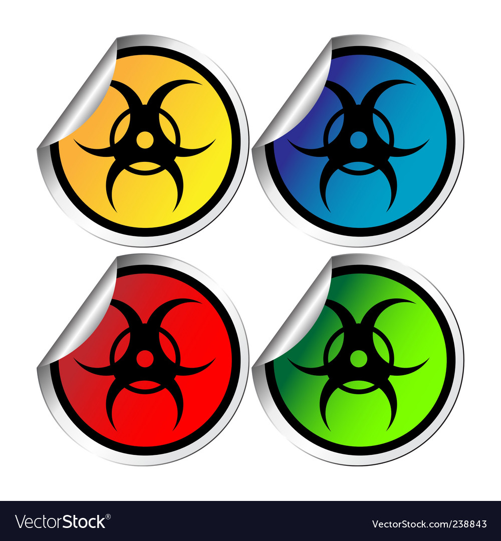 Radiation warning stickers vector | Price: 1 Credit (USD $1)