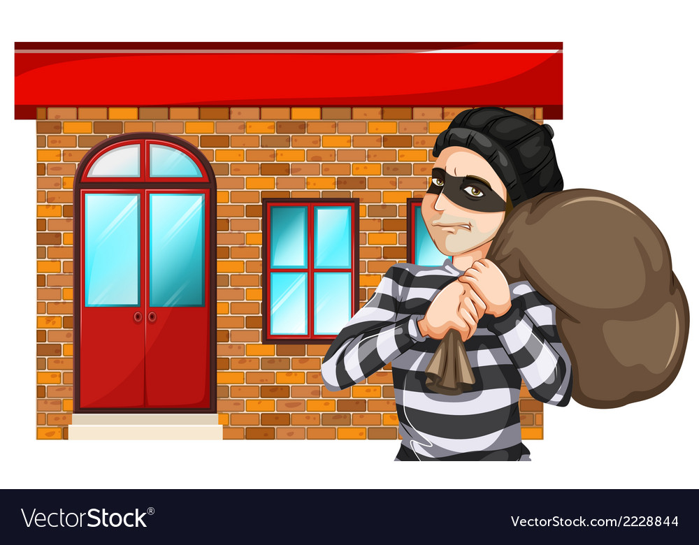 A man robbing the building vector | Price: 1 Credit (USD $1)