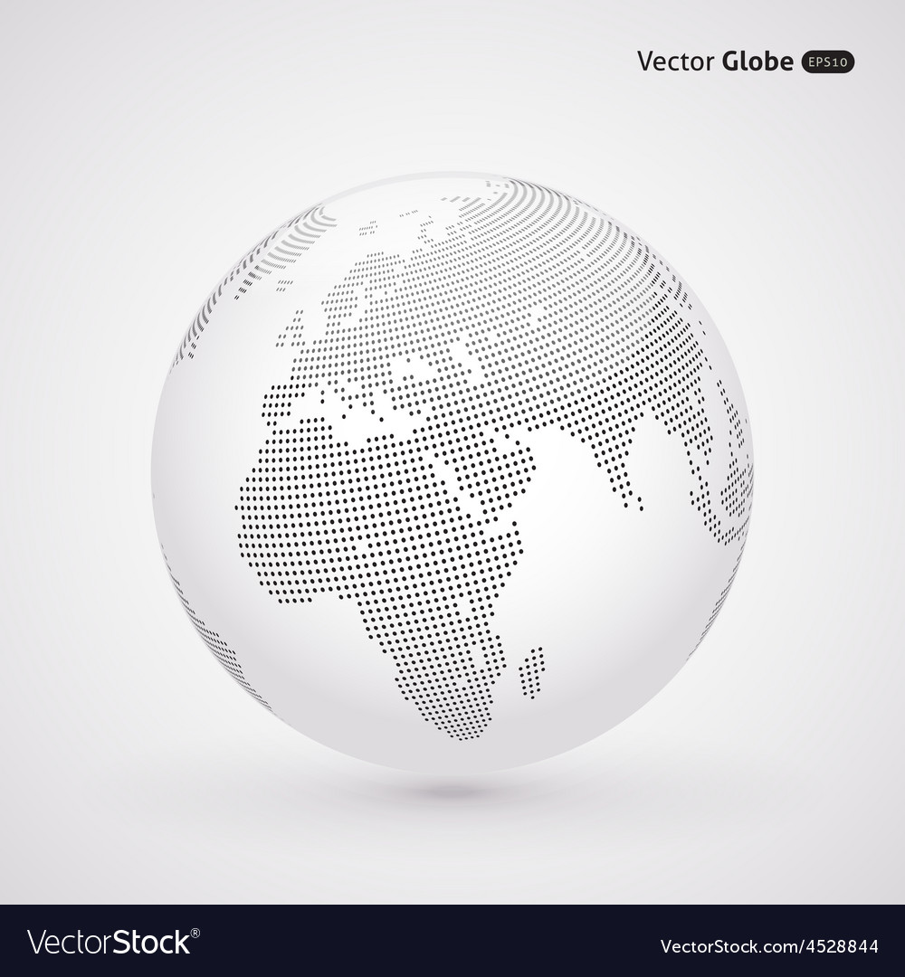 Abstract dotted globe central heating view on vector | Price: 1 Credit (USD $1)