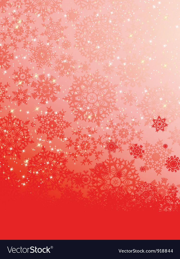 Abstract red snowflakes background vector | Price: 1 Credit (USD $1)