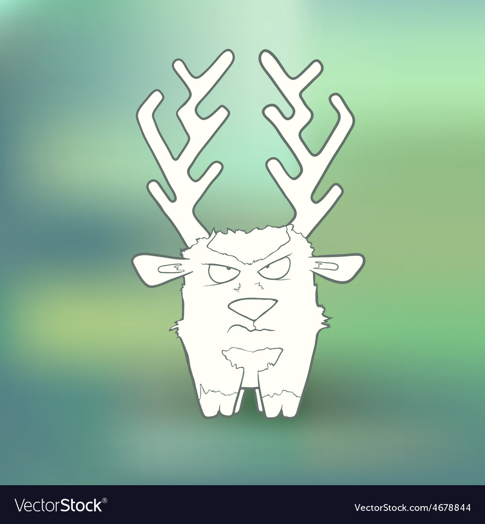 Hand-drawn angry deer with vector   Price: 1 Credit (USD $1)