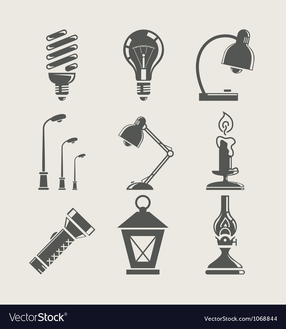 Light bulb and lighting vector | Price: 1 Credit (USD $1)