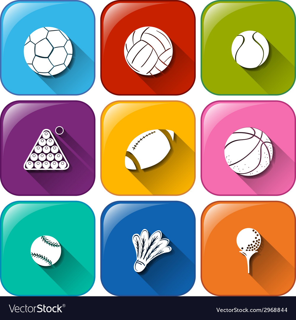 Rounded icons with the different balls vector | Price: 1 Credit (USD $1)