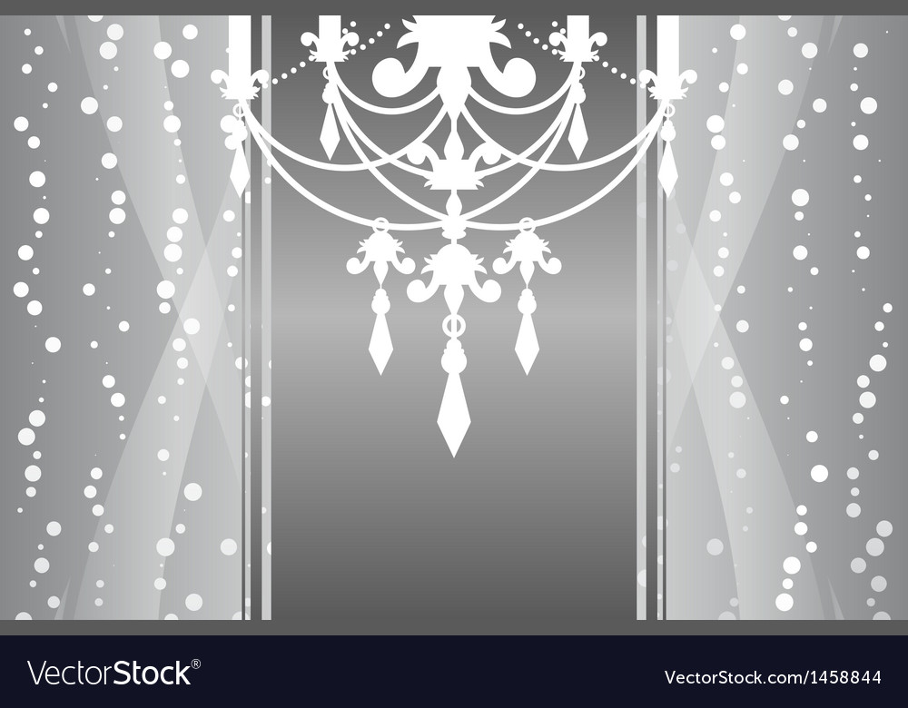 Silver frame chandelier vector | Price: 1 Credit (USD $1)