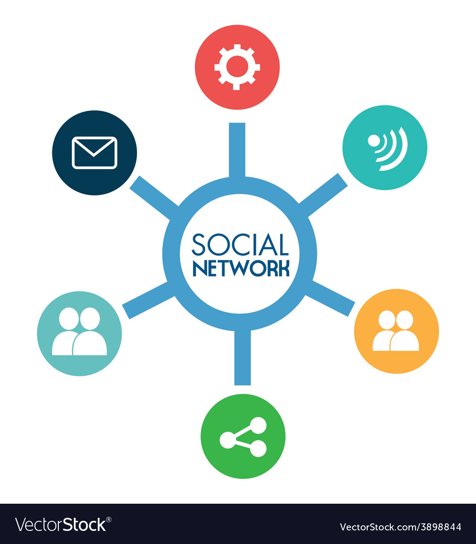 Social network design vector | Price: 1 Credit (USD $1)