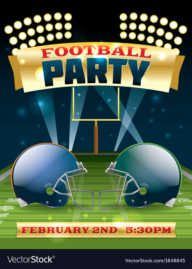 American football party flyer vector | Price: 3 Credit (USD $3)