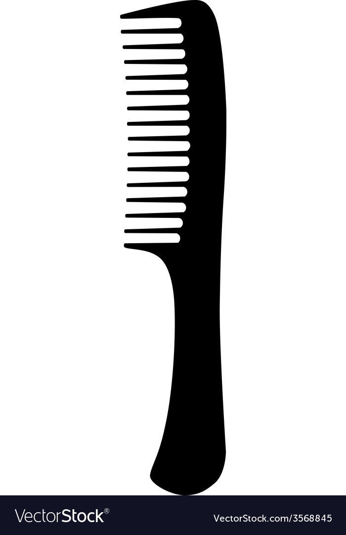 Black hair comb vector | Price: 1 Credit (USD $1)