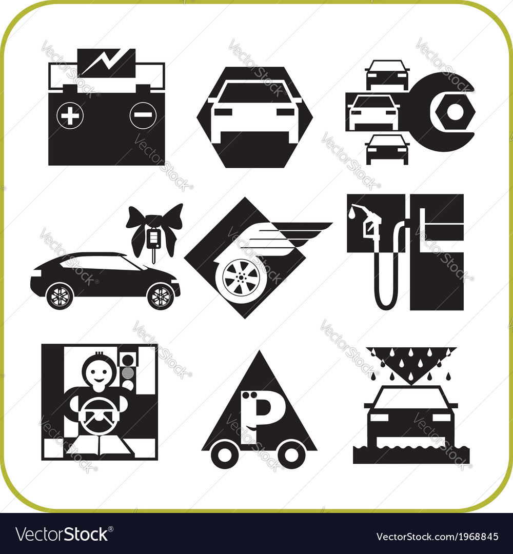 Car service - set of icons vector | Price: 1 Credit (USD $1)