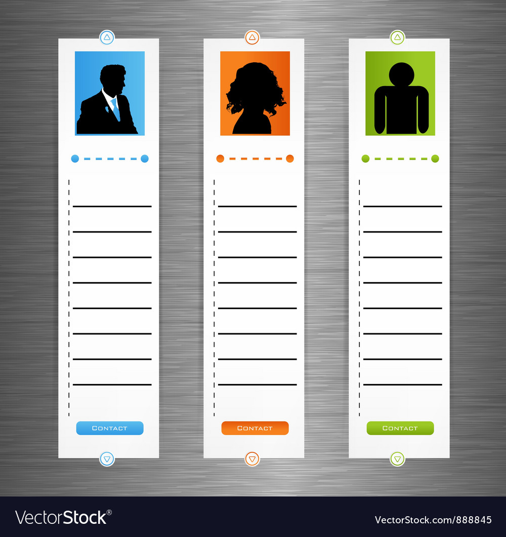 Contact banner set vector | Price: 1 Credit (USD $1)