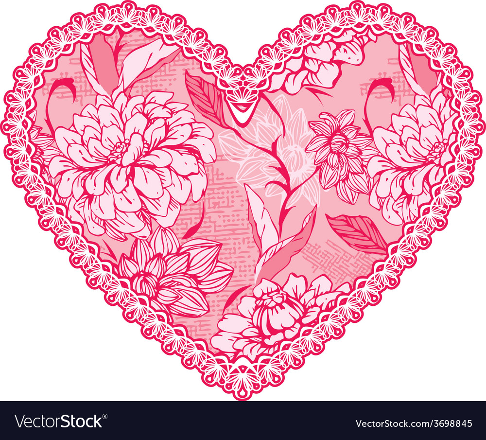 Heart lace pattern 1 380 vector | Price: 1 Credit (USD $1)