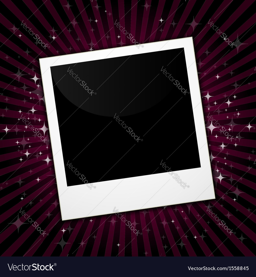 Polaroid with pink stars vector | Price: 1 Credit (USD $1)