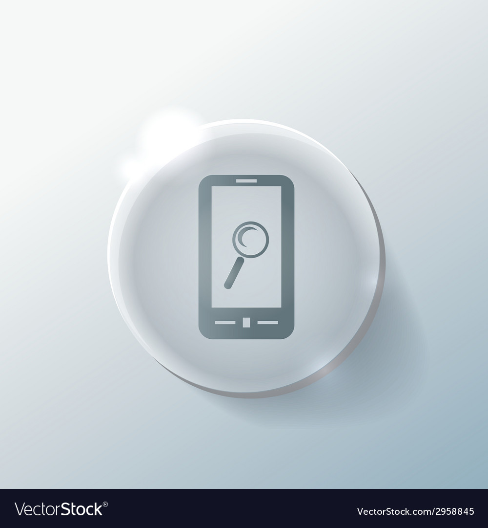 Smartphone magnifying glass vector | Price: 1 Credit (USD $1)