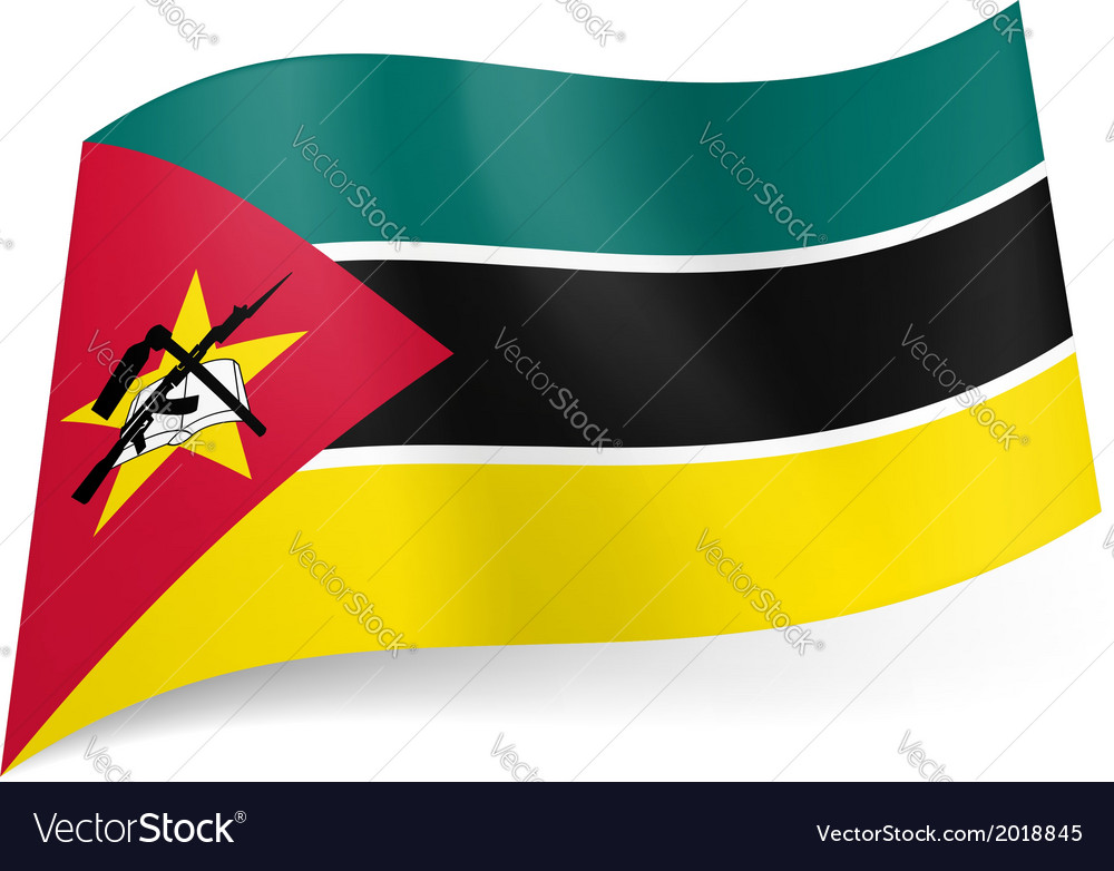 State flag of mozambique vector | Price: 1 Credit (USD $1)