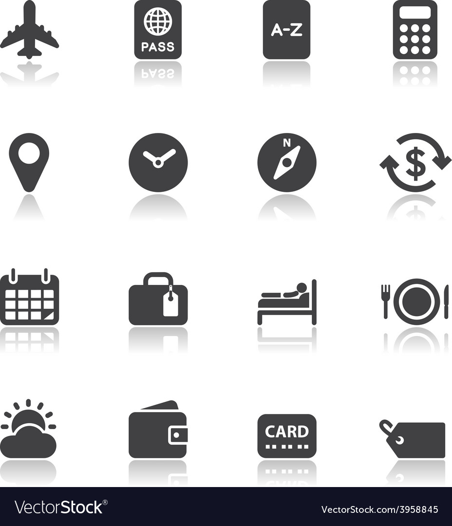 Travel icons for application vector | Price: 1 Credit (USD $1)