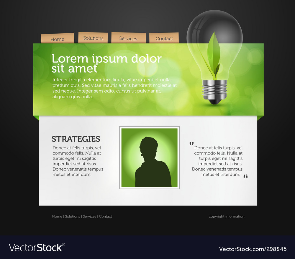 Web page layout vector | Price: 3 Credit (USD $3)