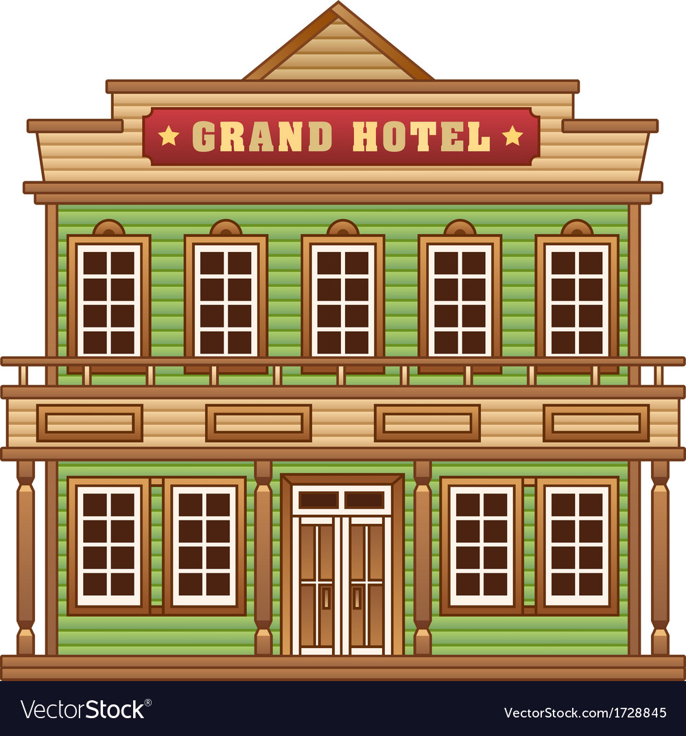 Wild west grand hotel vector | Price: 1 Credit (USD $1)