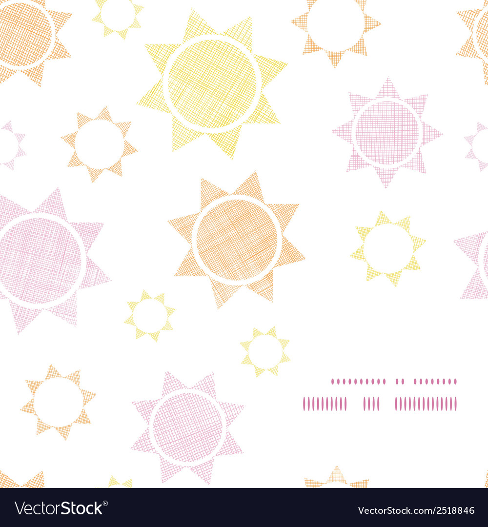 Abstract textile colroful suns geometric frame vector | Price: 1 Credit (USD $1)