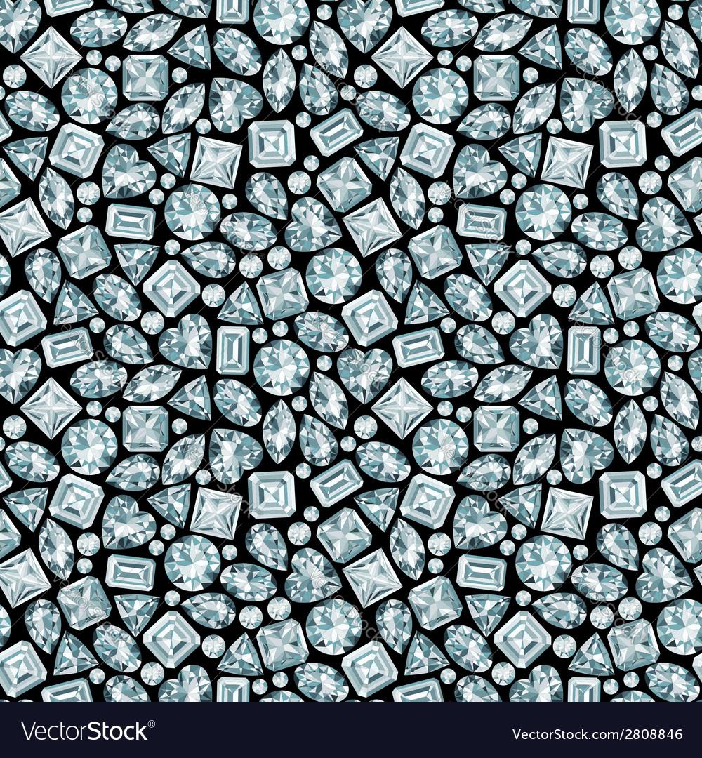 Black background with diamonds vector | Price: 1 Credit (USD $1)