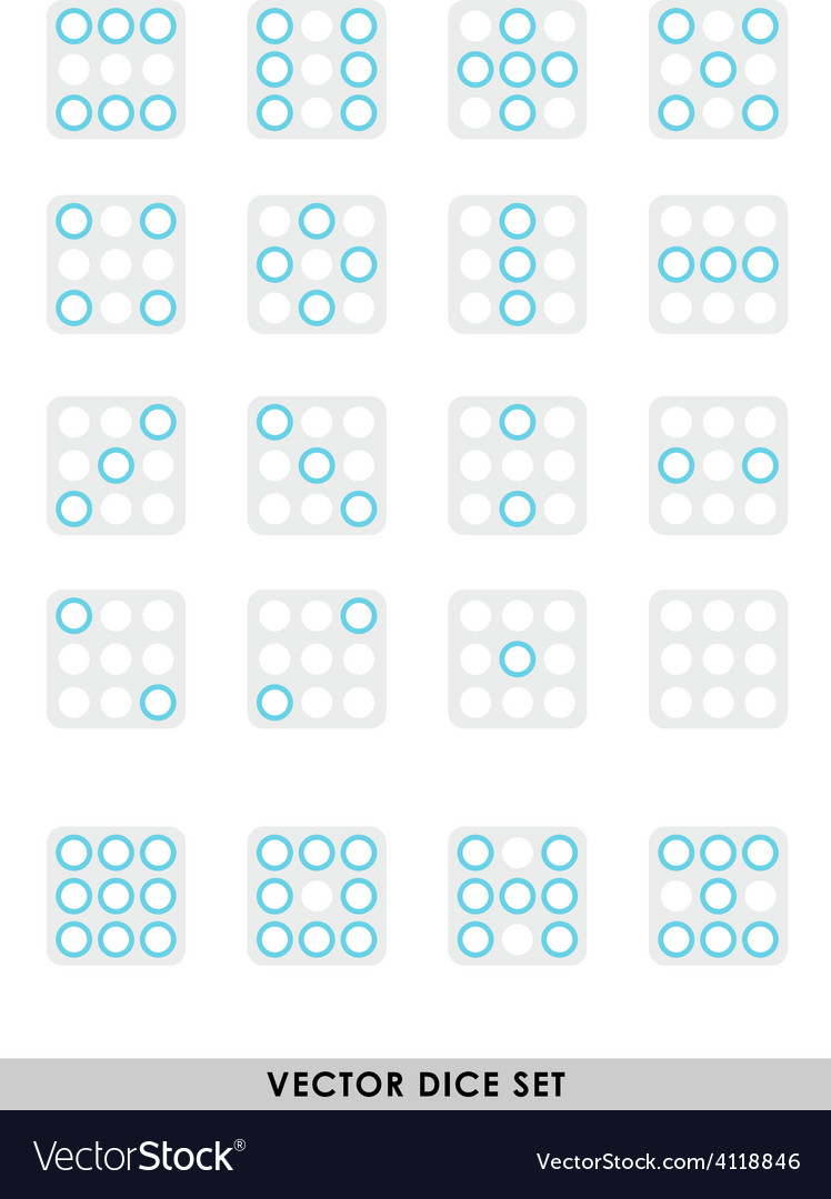 Dice set vector | Price: 1 Credit (USD $1)