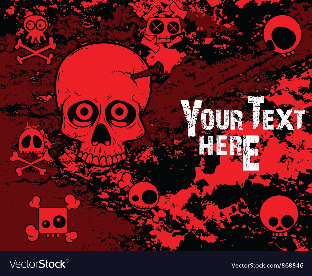 Emo background with skulls vector | Price: 1 Credit (USD $1)