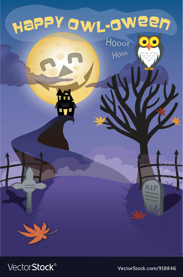 Haunted halloween night vector | Price: 3 Credit (USD $3)