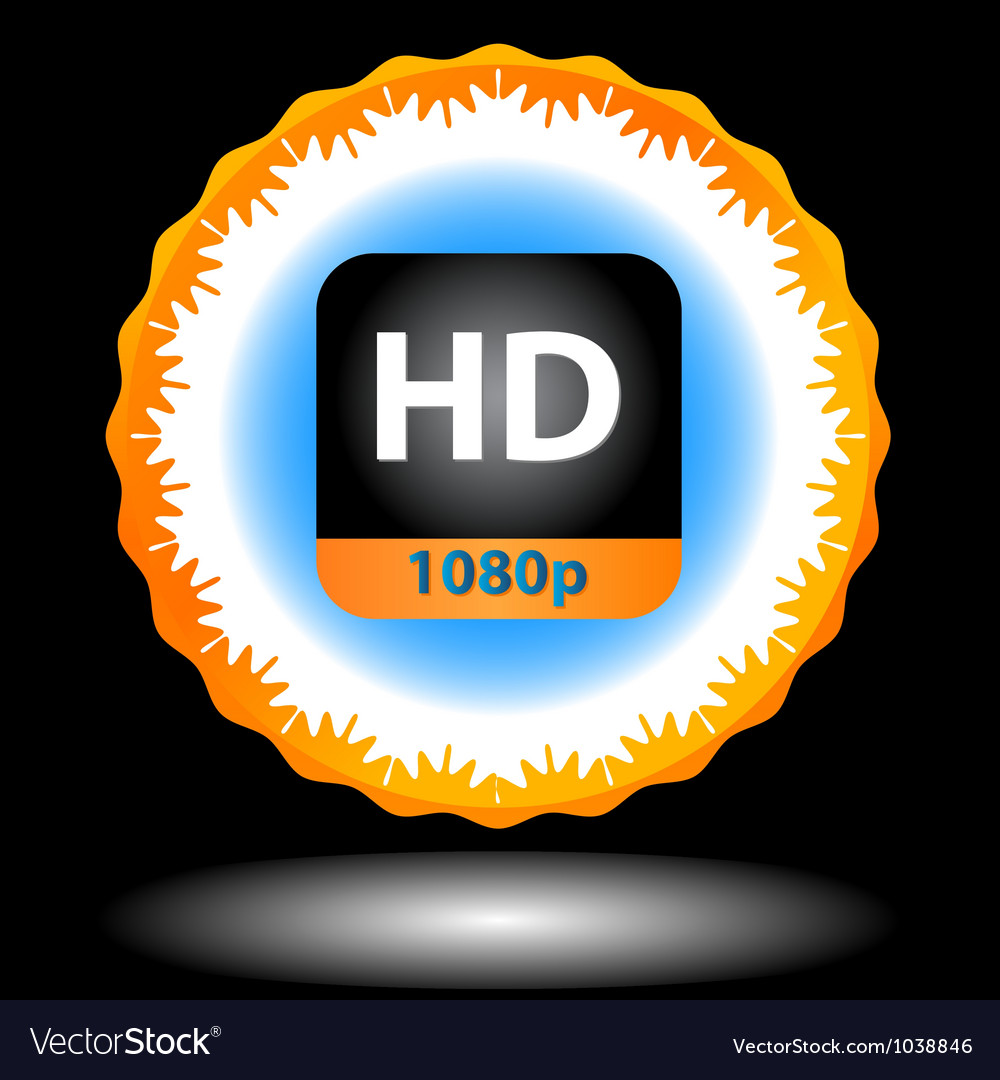 Hd icon vector | Price: 1 Credit (USD $1)