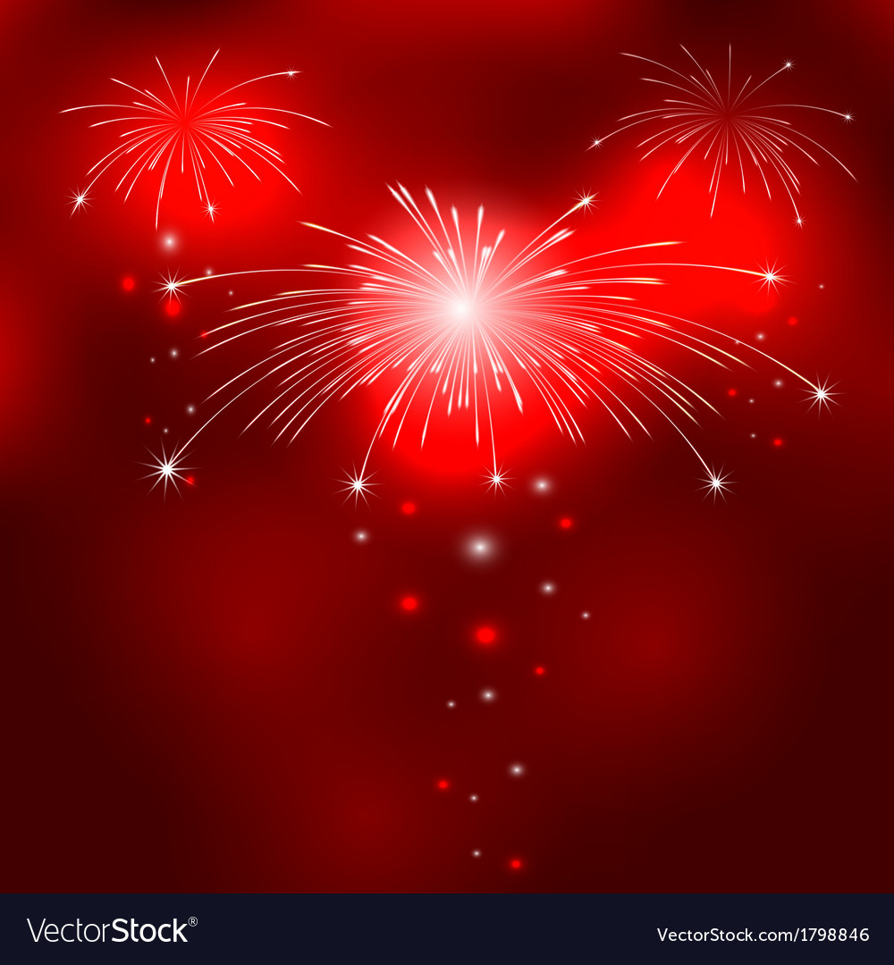Red background with fireworks vector | Price: 1 Credit (USD $1)