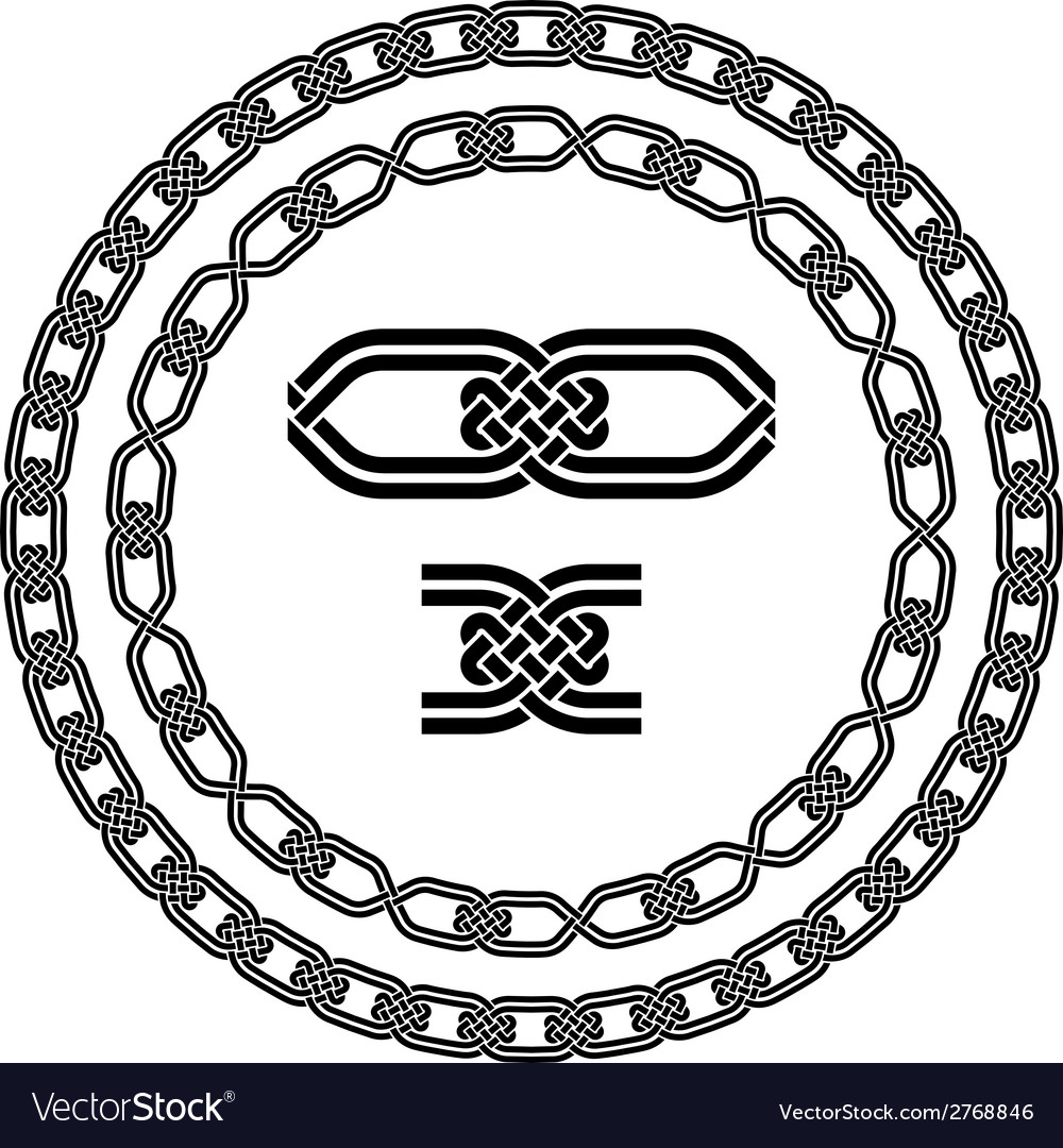 Seamless ornamental knot frames vector | Price: 1 Credit (USD $1)