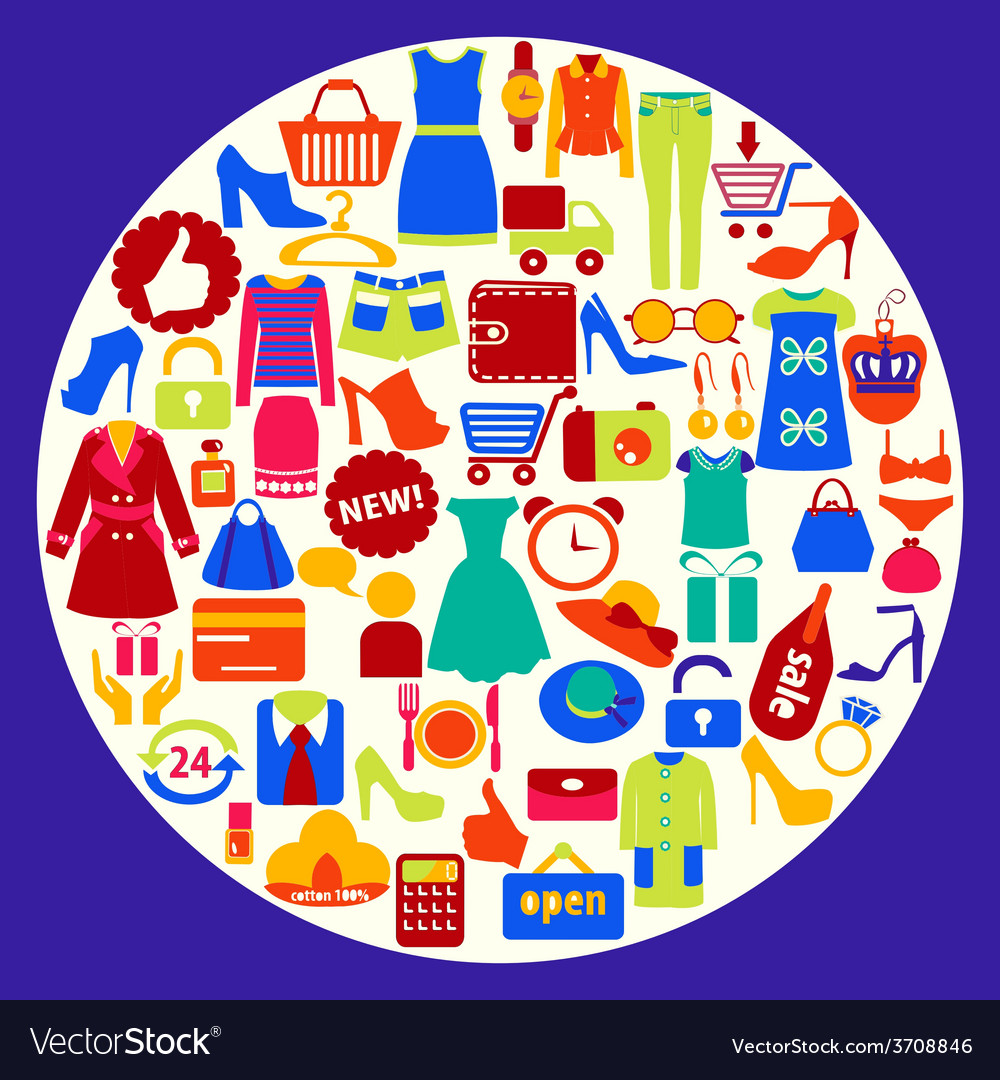 Shopping related icons vector | Price: 1 Credit (USD $1)