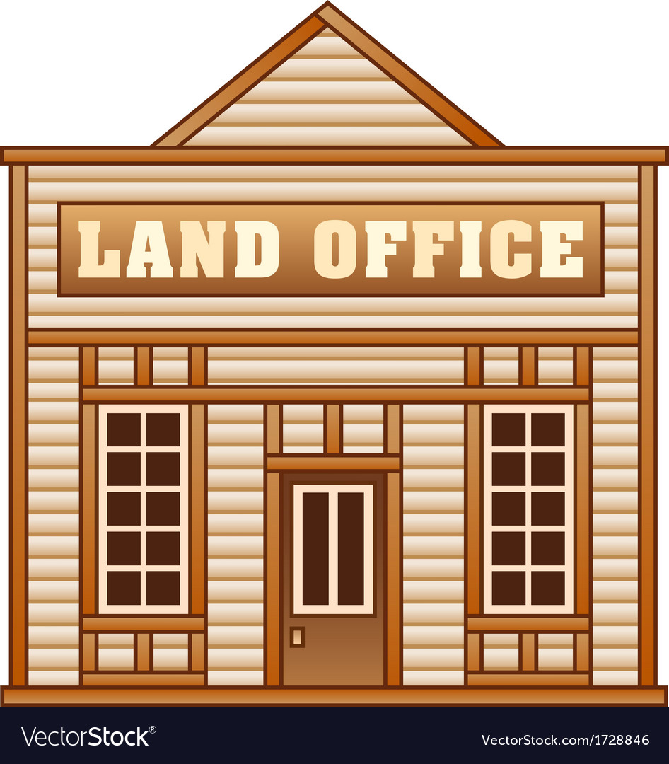 Wild west land office vector | Price: 1 Credit (USD $1)