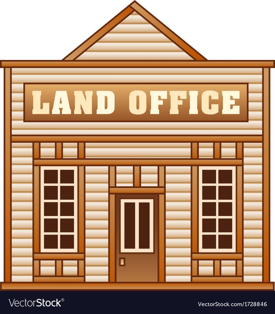 Wild west land office vector | Price: 1 Credit (USD $1)