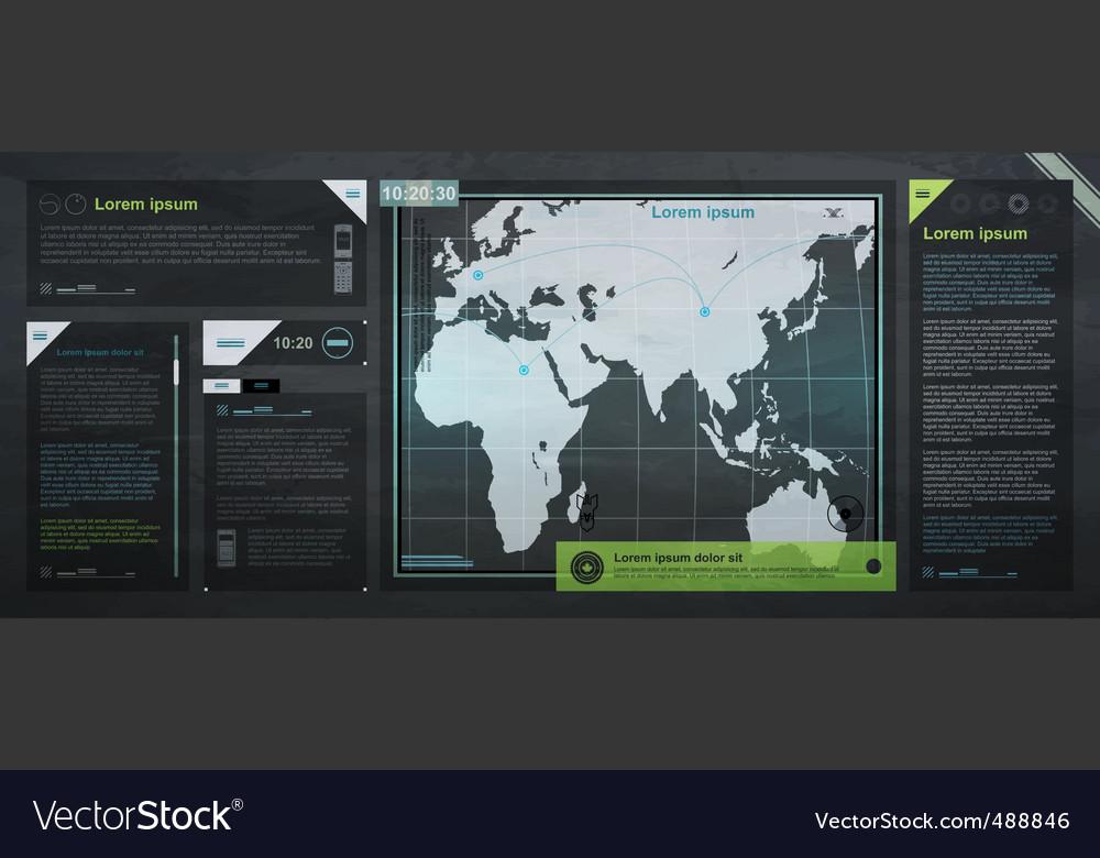 World map vector | Price: 3 Credit (USD $3)