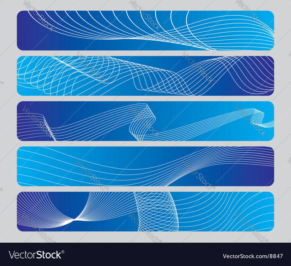 Abstract wave panel vector | Price: 1 Credit (USD $1)