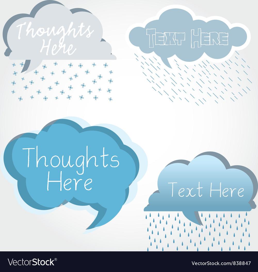 Cloud speech bubbles vector | Price: 1 Credit (USD $1)