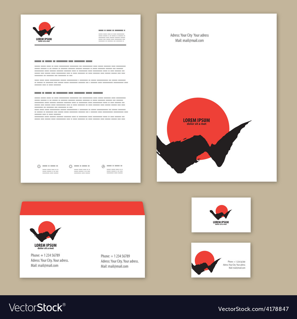 Corporate identity mountains and sun mountain - vector   Price: 1 Credit (USD $1)