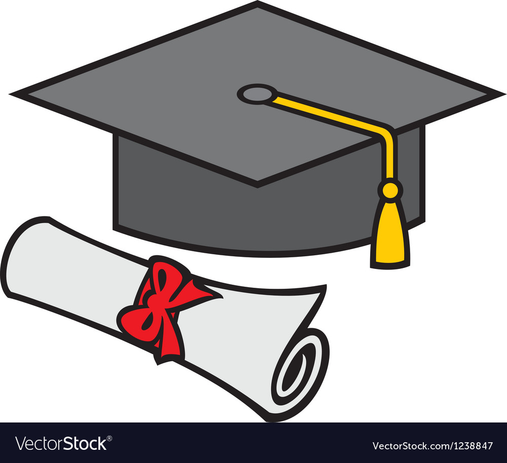 Graduation cap and diploma vector | Price: 3 Credit (USD $3)