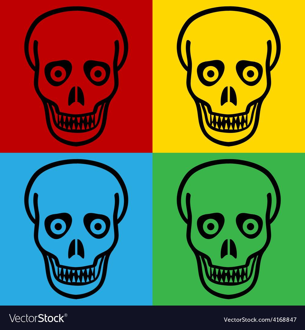 Pop art zombie icons vector | Price: 1 Credit (USD $1)