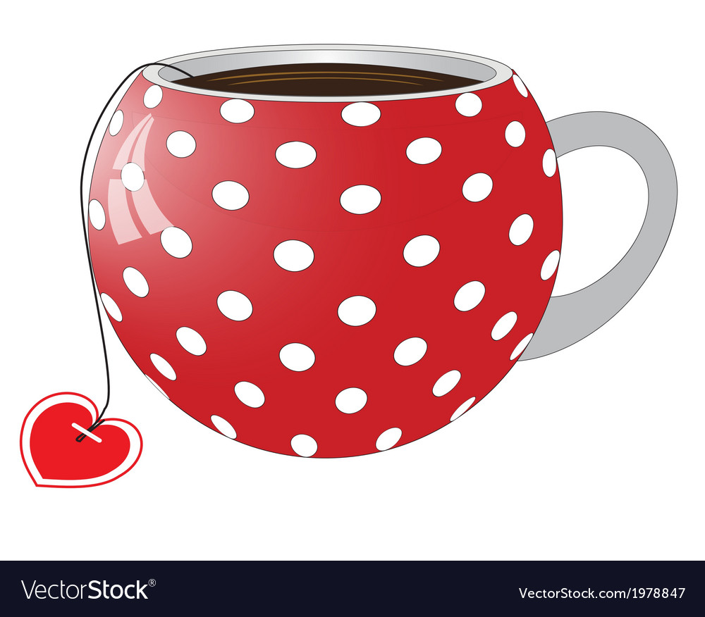 Red cup with white circles vector | Price: 1 Credit (USD $1)