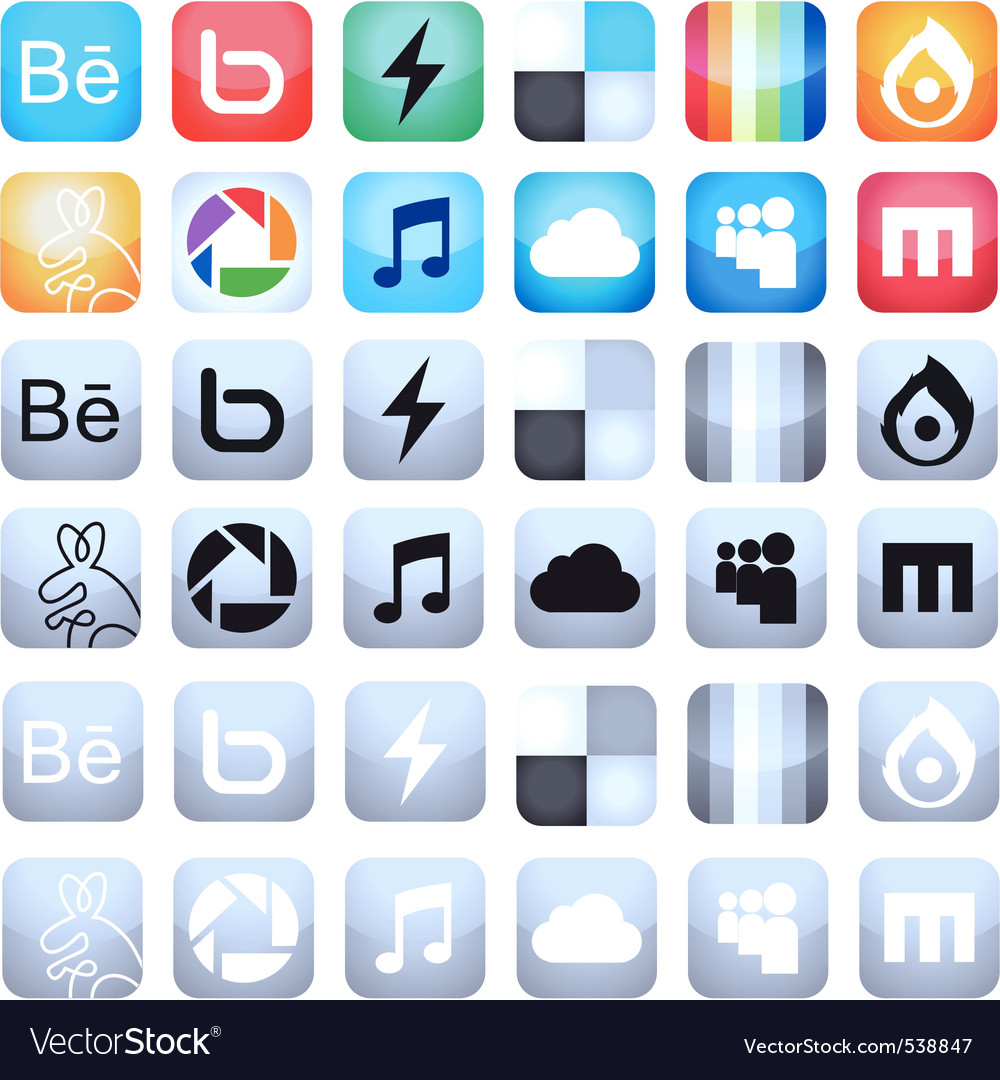 Social media icons vector   Price: 1 Credit (USD $1)