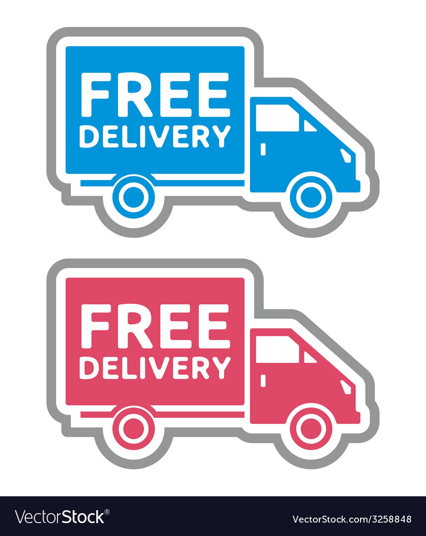 Delivery truck4 vector | Price: 1 Credit (USD $1)