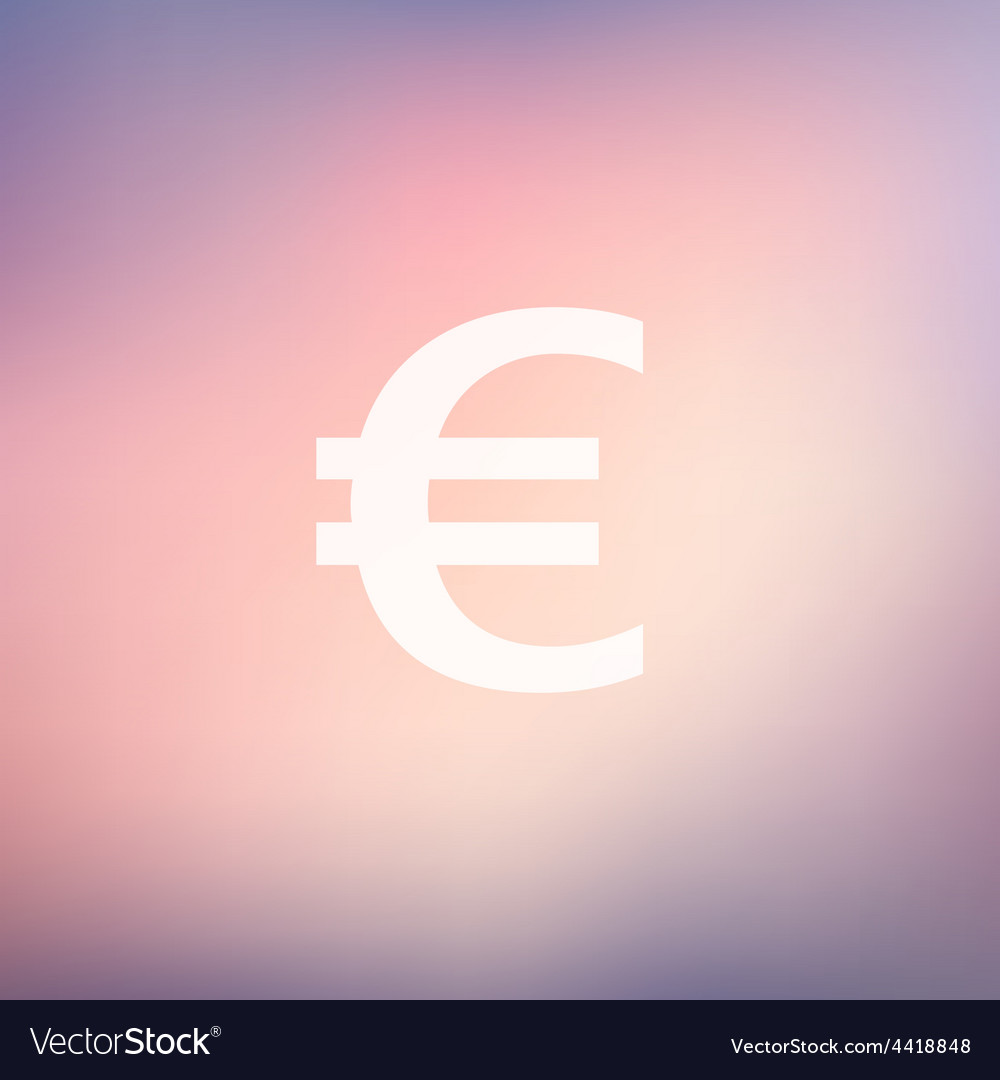 Euro symbol in flat style icon vector | Price: 1 Credit (USD $1)