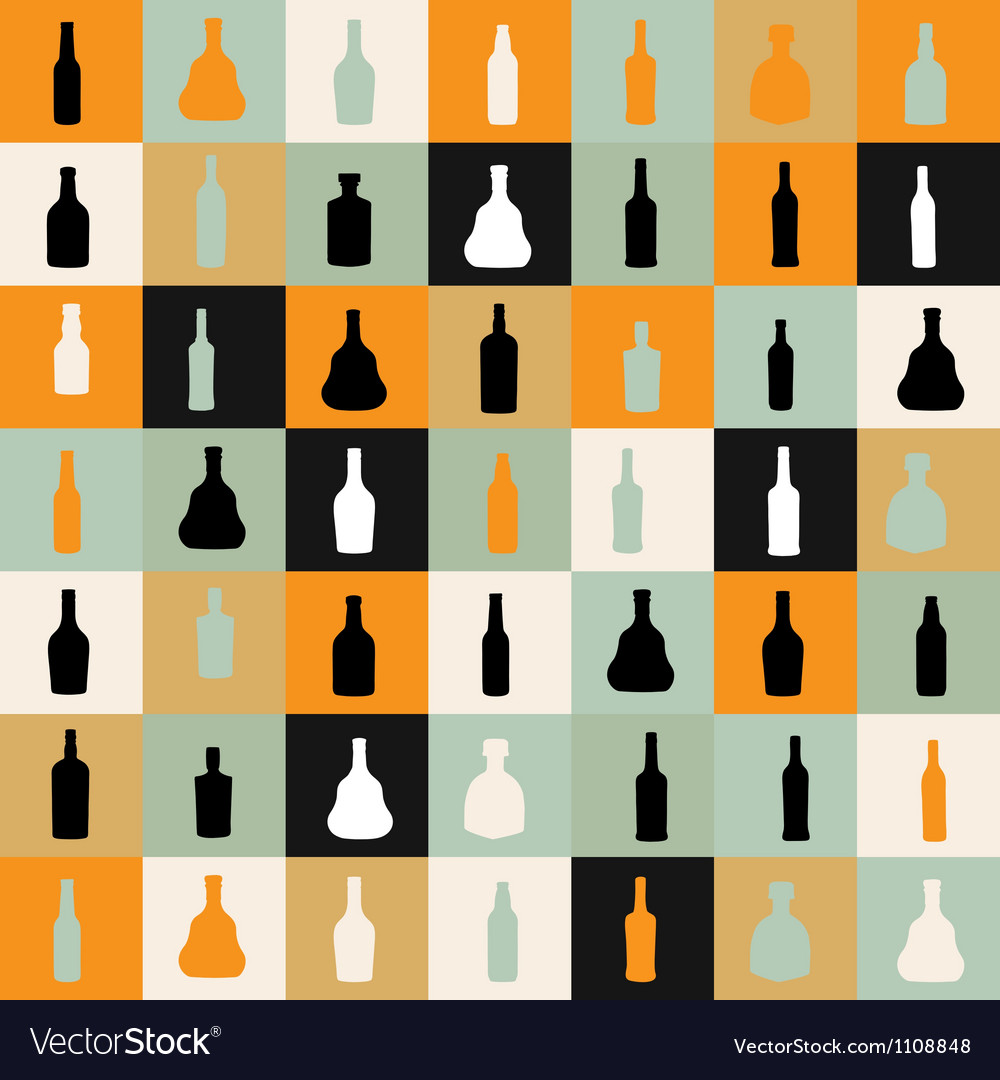 Pattern silhouette alcohol bottle vector | Price: 1 Credit (USD $1)