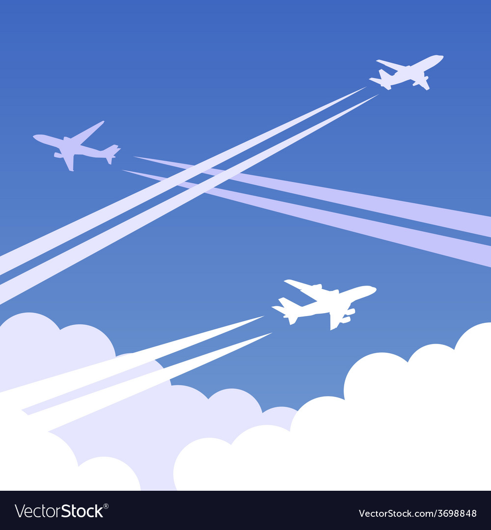 Sky planes background 01 vector | Price: 1 Credit (USD $1)