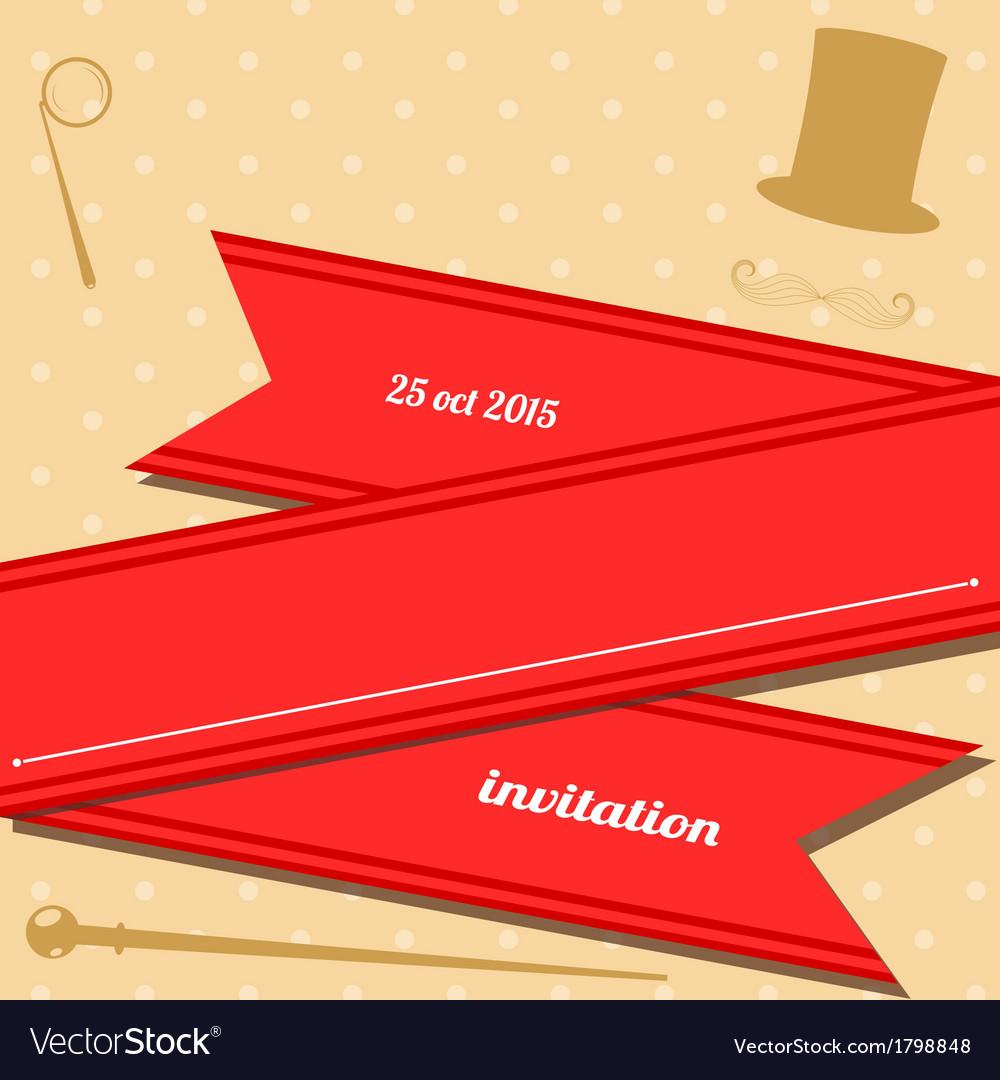 Vintage club invitation vector | Price: 1 Credit (USD $1)
