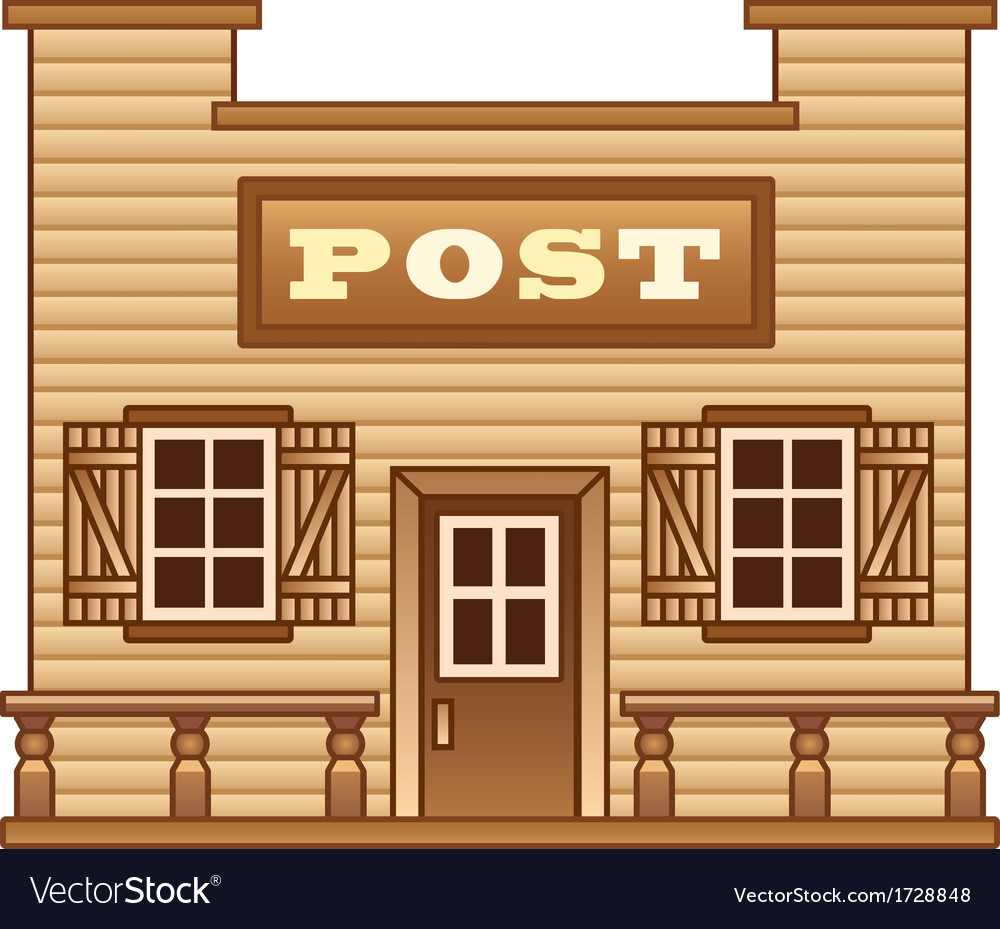 Wild west post office vector | Price: 1 Credit (USD $1)