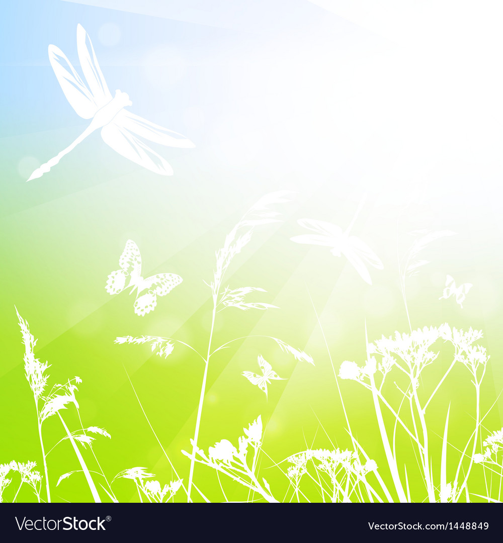 Abstract summer meadow vector | Price: 1 Credit (USD $1)