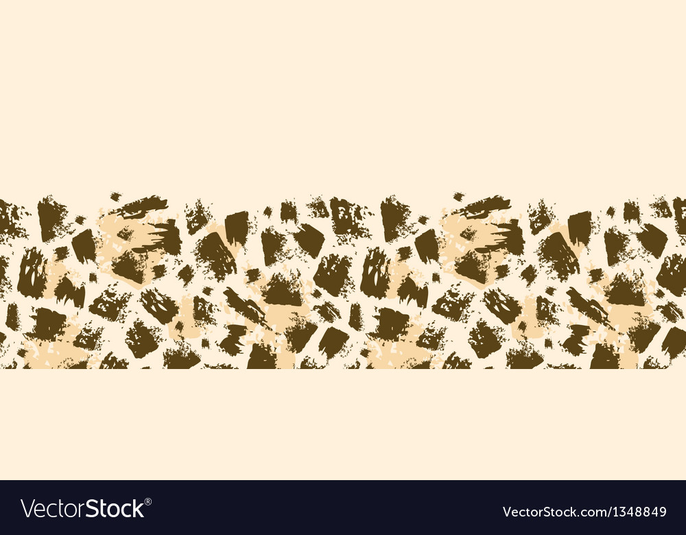 Animal brush stroke horizontal seamless pattern vector | Price: 1 Credit (USD $1)